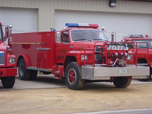 alexis county ford fire clinton engine iowa ia volunteer welton dept