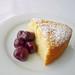 Lemon Yogurt Cake with Cherries by pastrystudio