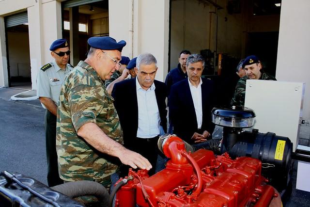Περιοδεία του ΥΦΕΘΑ Νίκου Τόσκα σε μονάδες και στρατιωτικές εργοστασιακές εγκαταστάσεις στη Θεσσαλία