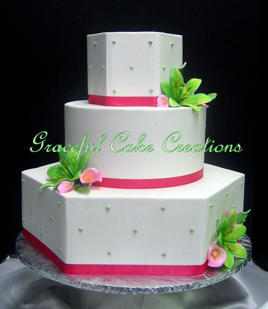 lime green and hot pink wedding cakes graceful cake creations s most recent flickr photos picssr 16896