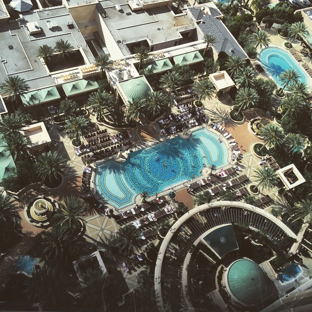 Oh to be in that pool right now.. #travelingjourno #lasvegas #nevada #thepalazzo #poolside #wanderentes