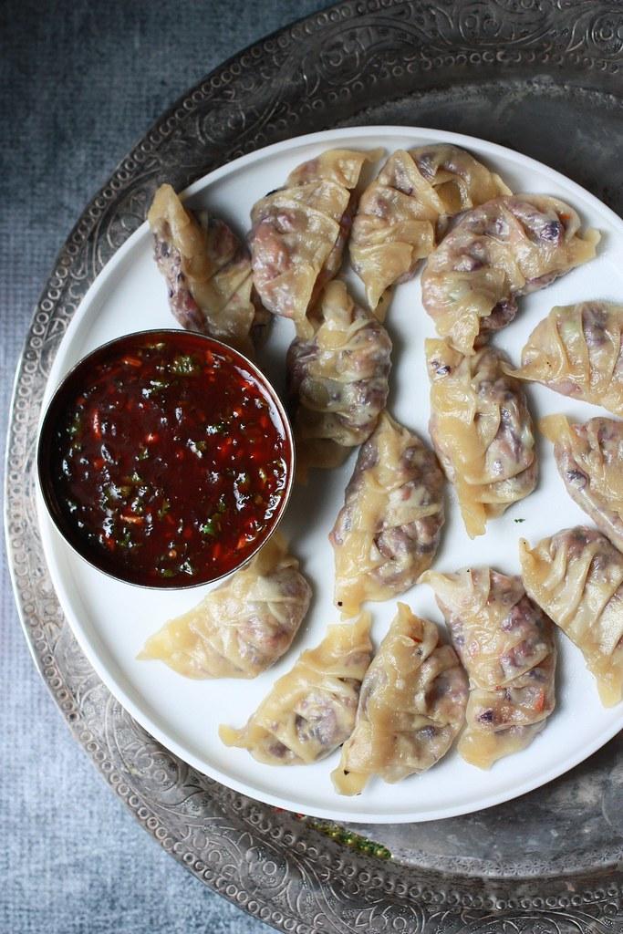 Momos Manchurian (Vegetarian Dumplings)