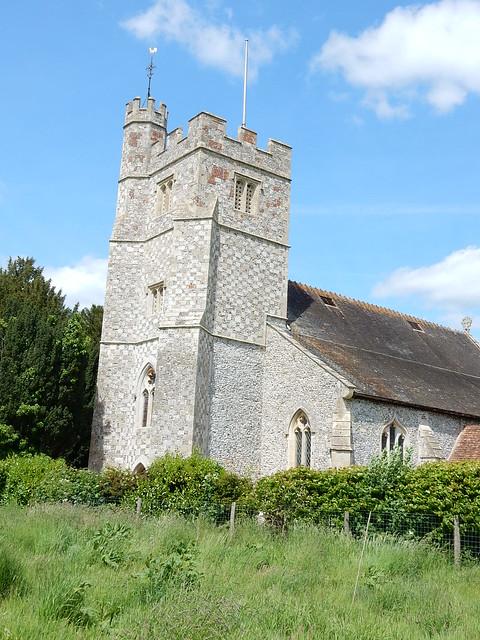 Chequered church, Longparish