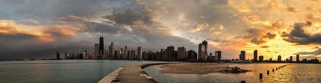 Chicago sunset - Explore