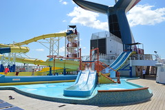 Waterslide and Whale Tail on the Verandah Deck