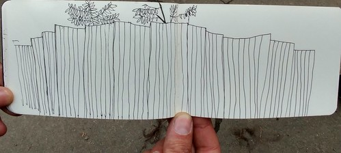 Vake Park Fence sketched by Heiko Fisher