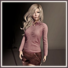 FREE miss chelsea button shorts  - coldLogic ortiz tucked shirt (not free) - Mina hair Elvire (not free) NEW
