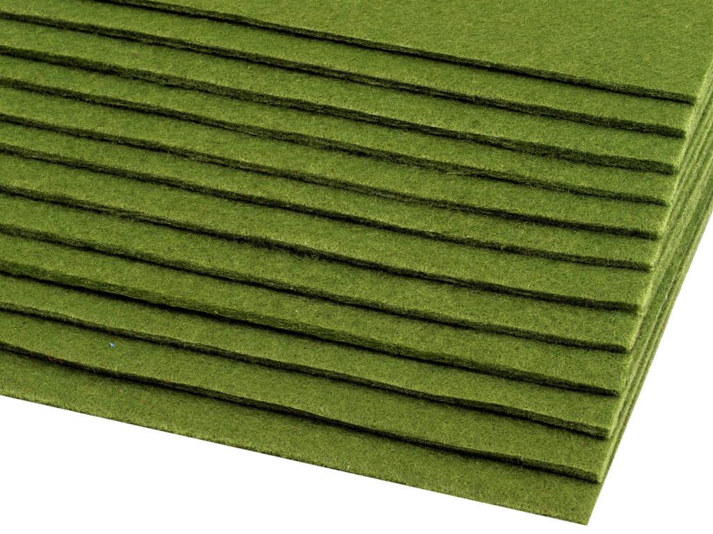 Filz (Stärke 2 - 3mm) grün, VE: 12 Bögen
