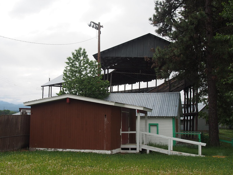 Pend Oreille County Fairground: The fairgrounds weren't active, but the only restroom for us to use was there. I explored it a bit before leaving.