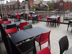 Barclaycard Arena - tables and chairs for La Tasca