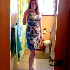 #mmmay15 new dress! Bathroom selfie this time. My bedroom mirror broke. Argh/sigh. #memademay15