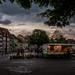 light still burns in market stall by Galerie-EF