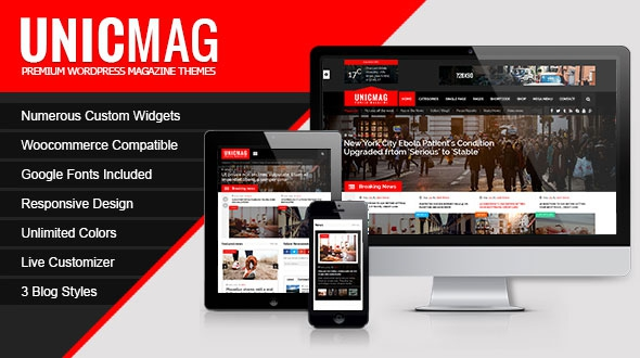 UnicMag v1.0.9 - WordPress Magazine Theme