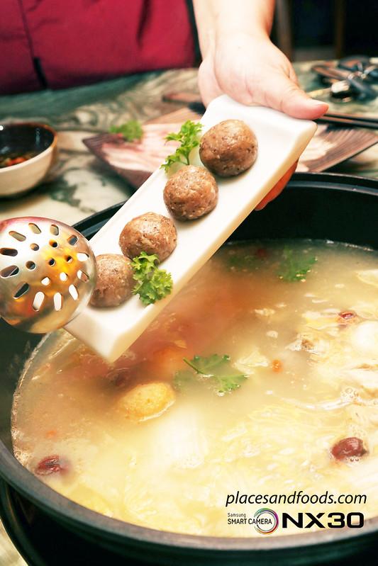 ye zi concept steamboat truffle balls