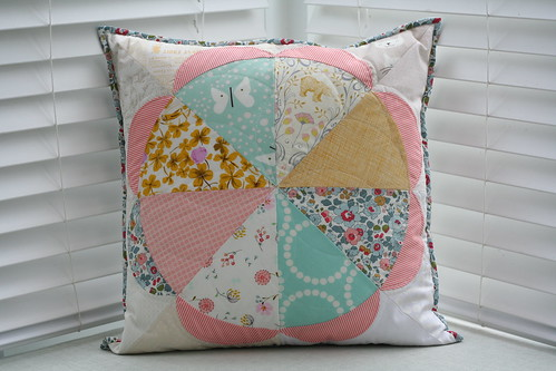 Gathering Flowers Pillow from Marika