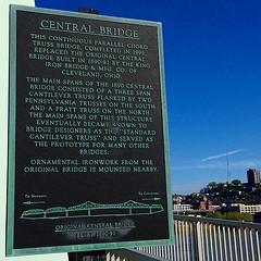 Memorial Plaque - #bridges #newportky #ohioriver #ohio #ky #kentucky #kentuckypics #cincygram #cincypics #mtadams #latergram