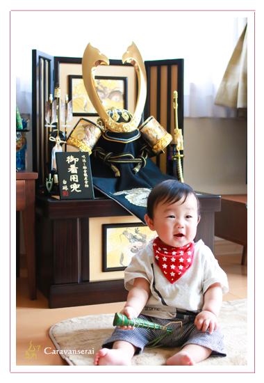初節句 端午の節句記念 男の子 初節句 子供写真 家族写真 鯉のぼり 愛知県愛知郡東郷町 公園 自宅