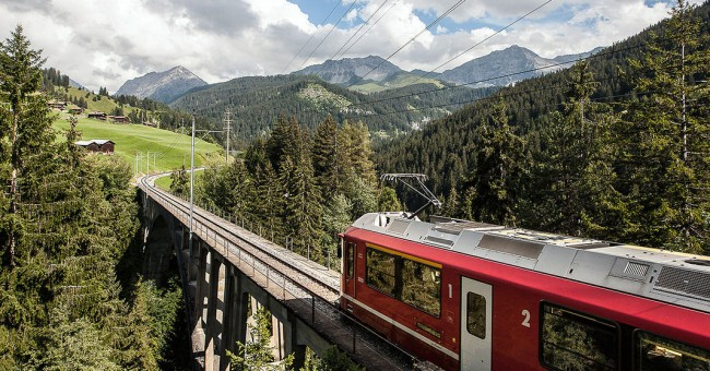Švýcarsko na výstavě železničních modelů.