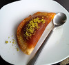 Arab dessert qatayef (katayef) at the Abu Ashraf cafe, Nazareth, Israel