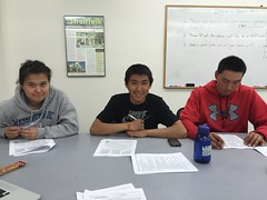 NACTEC NCCER construction students filling out their first W-4 forms!