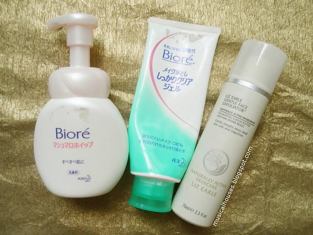 Empties Biore Liz Arden Cleanser Makeup Remover