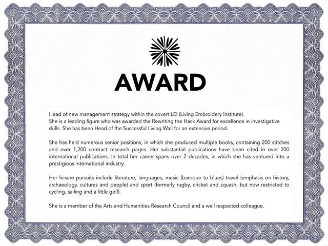 Re-Writing the Hack Award