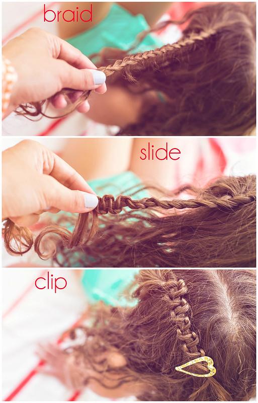 #LoveYourCurls slide braid tutorial