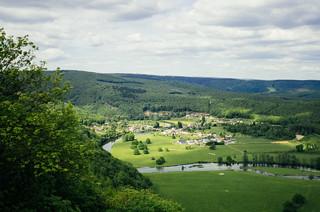 Carte de France touristique - La vallée de la Semois dans les Ardennes