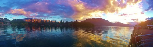 Sunset over Queenstown our last night in town 11/30/13
