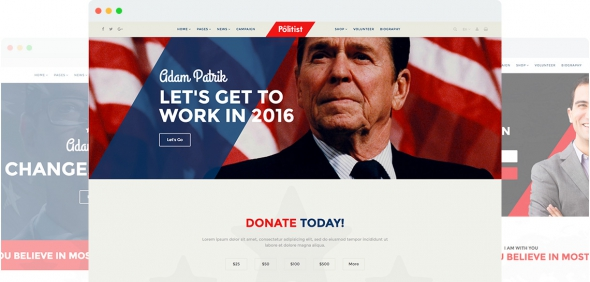 Politist v1.2 - Responsive Joomla 3.x Template for Politicians/Election Campaigns