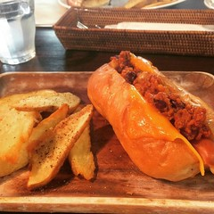 chili cheese dog❤︎  #southswell #osaka #japan #chilicheesedog