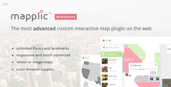 Mapplic v3.1 - Custom Interactive Map WordPress Plugin