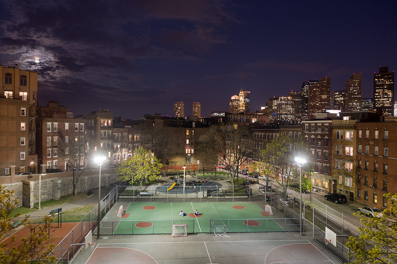 North End Park, Boston Skyline