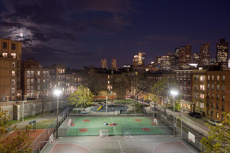 North End Park, Boston Skyline