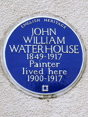 Photo of John William Waterhouse blue plaque