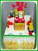 MIniature cake pemadam kebakaran dan minion