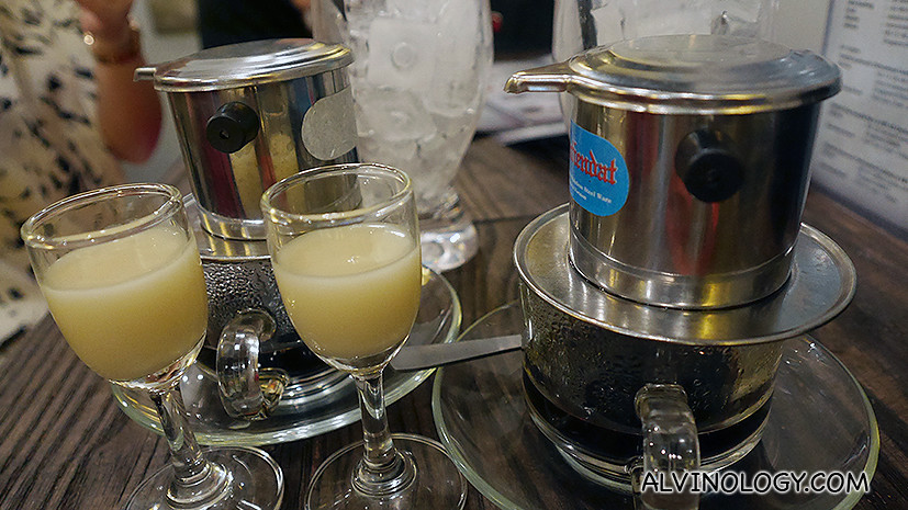 Drip ice coffee (milk cold) - S$3.90, a specialty in Vietnam
