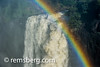Victoria Falls, Zimbabwe - Victoria Falls Waterfall with rainbow