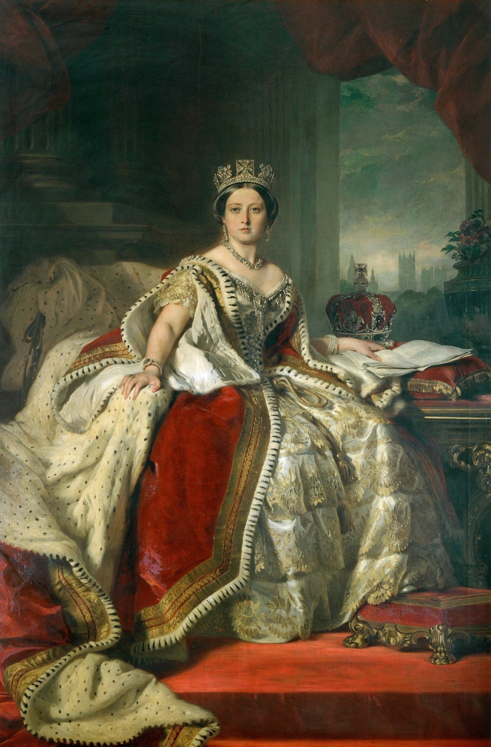 Portrait of Queen Victoria by Franz Xaver Winterhalter, 1859