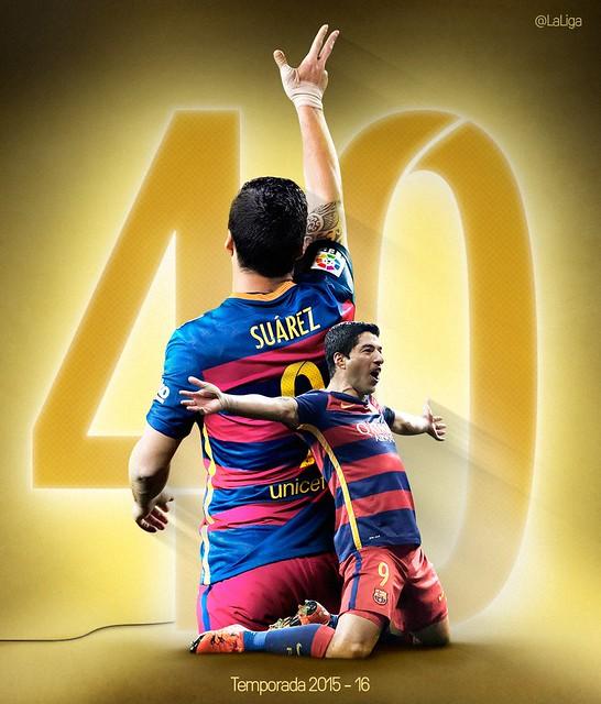 Luis Suárez: 5º mejor registro histórico de la Liga BBVA
