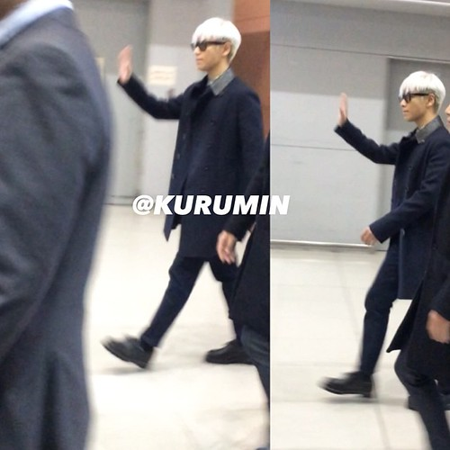 Big Bang - Kansai Airport - 15jan2015 - TOP - choikurumintop - 01