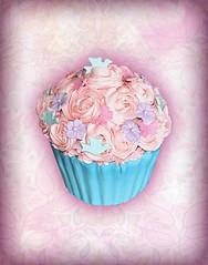Secret Garden Giant Cupcake cake