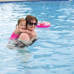 Reese Swimming with Bam
