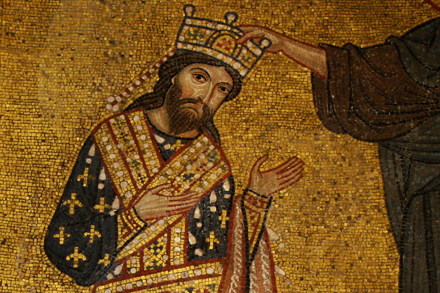 A mosaic depicting King Roger II of Sicily. Photo: Creative Commons/Matthias Süssen, 2007