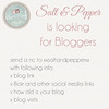 Salt & Pepper is looking for BLOGGERS