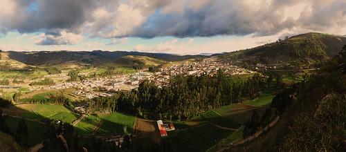 panorama town ecuador view hills andes chimborazo guamote
