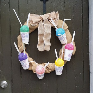 A snow cone wreath? Why not. #nola