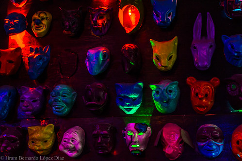 Creepy masks.