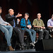 Yasser Malaika (Valve) gesturing with outstretched arm while VR Input Panel looks on (at SVVR 2015)
