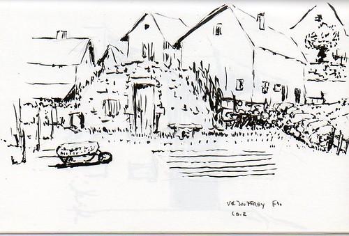 Valjouffrey, les caves sont en pierre voir même creusées dans un coteau contre des rochers ou des maisons, souvent la végétation pousse dessus.